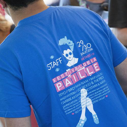 T-Shirt Serigraphié 3 Couleurs
